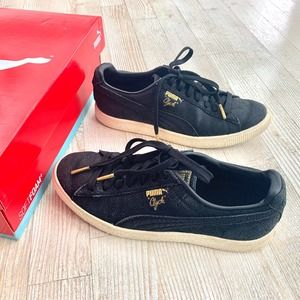 Puma Clyde Snake Collection Black